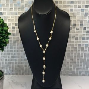 Vince Camuto new (N) gold and pearl necklace